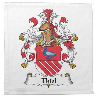 Escudo de la familia de Thiel Servilletas Imprimidas