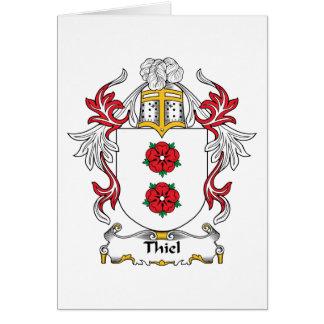 Escudo de la familia de Thiel Tarjeta