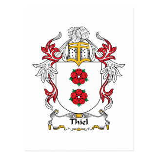 Escudo de la familia de Thiel Postales