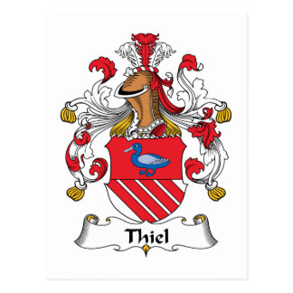 Escudo de la familia de Thiel Tarjetas Postales