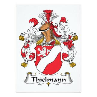 """Escudo de la familia de Thielmann Invitación 6.5"""" X 8.75"""""""