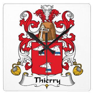 Escudo de la familia de Thierry Relojes De Pared
