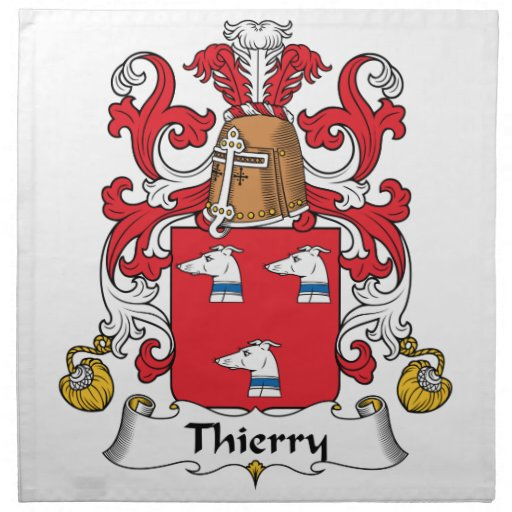 Escudo de la familia de Thierry Servilletas