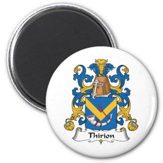 Escudo de la familia de Thirion Imán Redondo 5 Cm