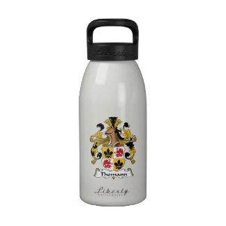Escudo de la familia de Thomann Botella De Agua