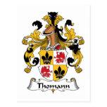 Escudo de la familia de Thomann Postales