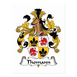 Escudo de la familia de Thomann Tarjetas Postales
