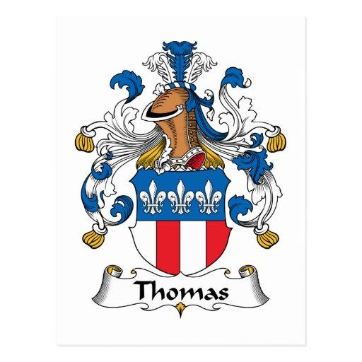 Escudo de la familia de Thomas Postales
