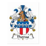 Escudo de la familia de Thomas Tarjetas Postales