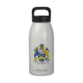Escudo de la familia de Thompkins Botella De Agua