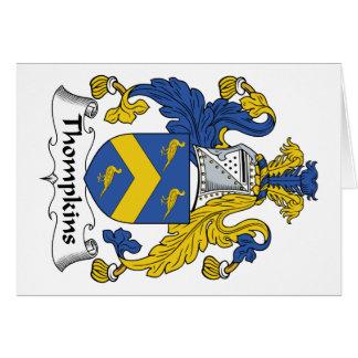 Escudo de la familia de Thompkins Felicitación