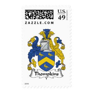 Escudo de la familia de Thompkins Franqueo