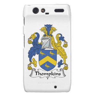 Escudo de la familia de Thompkins Motorola Droid RAZR Carcasas