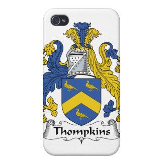 Escudo de la familia de Thompkins iPhone 4 Carcasas