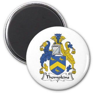 Escudo de la familia de Thompkins Imanes Para Frigoríficos