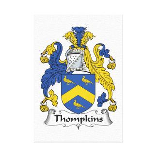 Escudo de la familia de Thompkins Lona Estirada Galerías