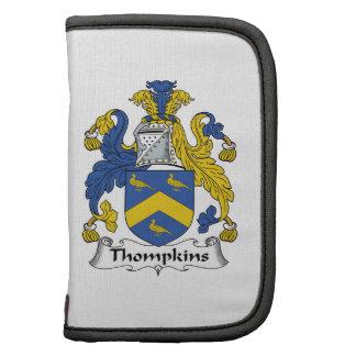 Escudo de la familia de Thompkins Organizadores