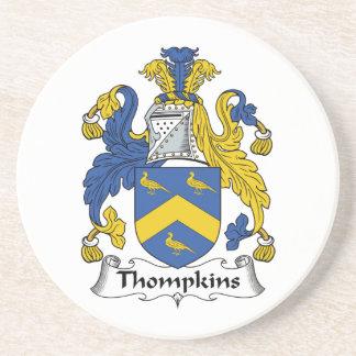 Escudo de la familia de Thompkins Posavaso Para Bebida