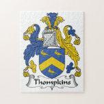 Escudo de la familia de Thompkins Rompecabezas