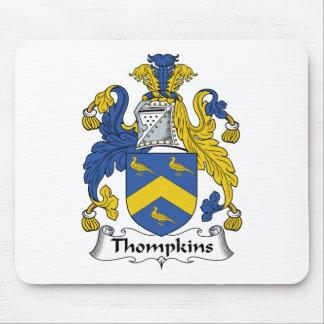 Escudo de la familia de Thompkins Tapetes De Raton