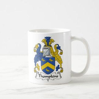 Escudo de la familia de Thompkins Taza