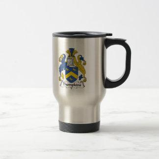 Escudo de la familia de Thompkins Taza De Café