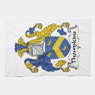 Escudo de la familia de Thompkins Toallas
