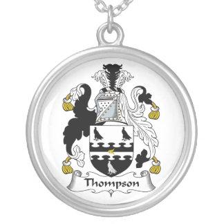 Escudo de la familia de Thompson Colgante Redondo
