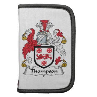 Escudo de la familia de Thompson Planificadores