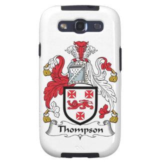Escudo de la familia de Thompson Galaxy SIII Cárcasas