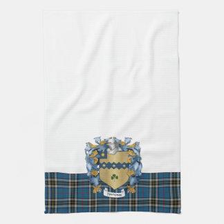 Escudo de la familia de Thompson (irlandés) Toallas