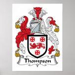 Escudo de la familia de Thompson Poster