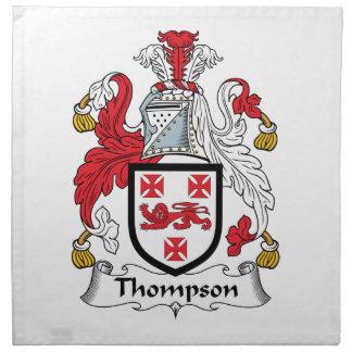 Escudo de la familia de Thompson Servilletas Imprimidas