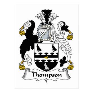 Escudo de la familia de Thompson Tarjeta Postal