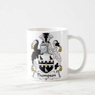 Escudo de la familia de Thompson Taza Clásica