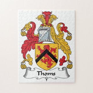 Escudo de la familia de Thoms Puzzle Con Fotos