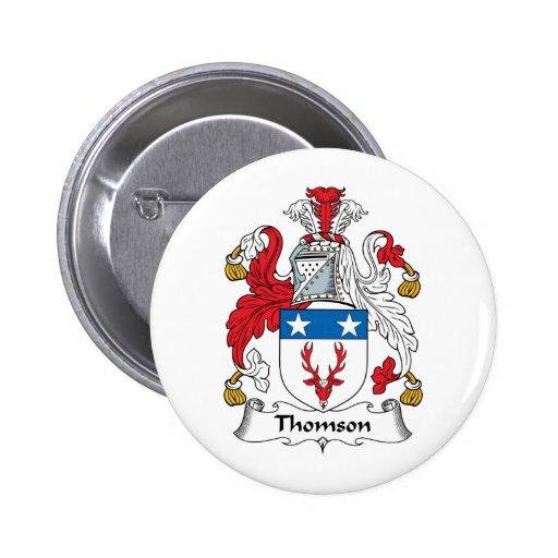 Escudo de la familia de Thomson Pins