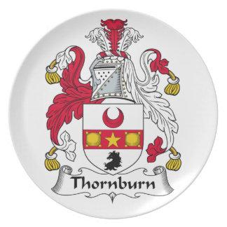Escudo de la familia de Thorburn Platos Para Fiestas
