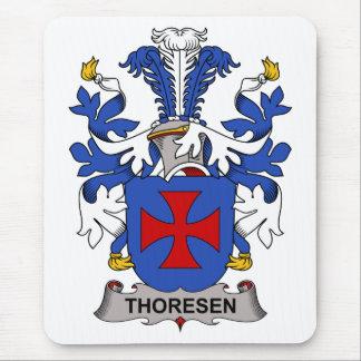 Escudo de la familia de Thoresen Alfombrillas De Raton