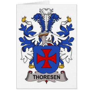 Escudo de la familia de Thoresen Tarjeta De Felicitación