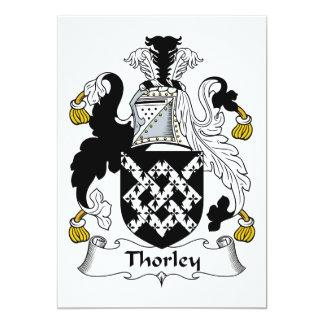 Escudo de la familia de Thorley Comunicados Personales