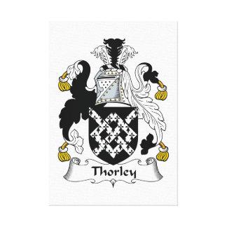 Escudo de la familia de Thorley Lona Envuelta Para Galerias