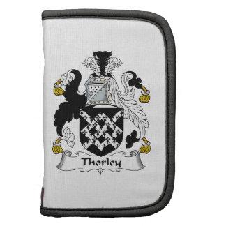 Escudo de la familia de Thorley Planificadores