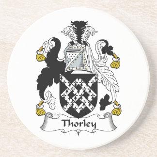 Escudo de la familia de Thorley Posavasos Cerveza
