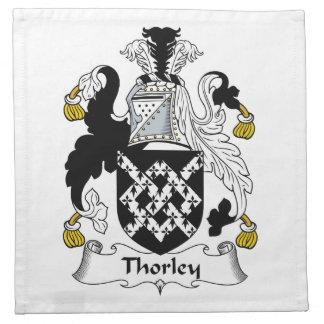 Escudo de la familia de Thorley Servilletas Imprimidas