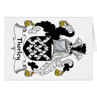 Escudo de la familia de Thorley Tarjetas