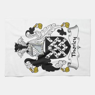 Escudo de la familia de Thorley Toallas De Mano