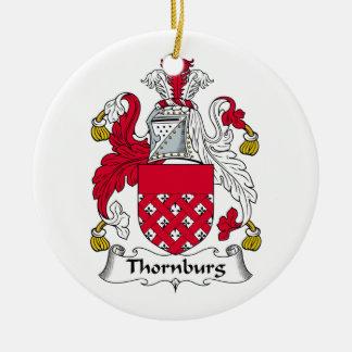 Escudo de la familia de Thornburg Ornamento Para Reyes Magos