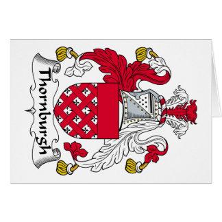 Escudo de la familia de Thornburgh Tarjeta De Felicitación