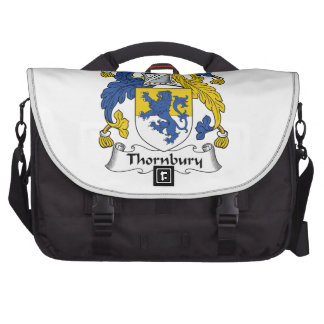 Escudo de la familia de Thornbury Bolsa De Ordenador